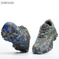Новинка 2019 года летние дышащие легкая защитная обувь для мужчин сталь носком Bot безопасность рабочие ботинки камуфляж нескользящая обувь к...
