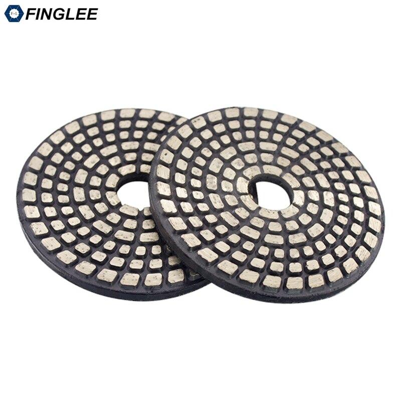 FINGLEE 4 pouces disque de meulage en métal kit de polissage en métal pour pierre béton ensemble de polissage granit marbre céramique sol tampons de polissage