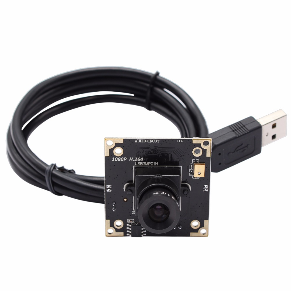 1080P H.264 MJPEG UVC Windows Linux Android Mac Plug Play Driverless 6 mm Lens WDR USB Camera Module Board 1 3mp linux android windows plug and play driverless usb monochrome b w camera module with 3 6mm lens