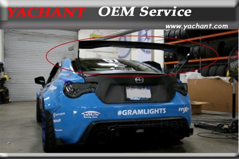 Voiture-Style Fiber De Carbone Arrière GT Spoiler Wing Fit Pour GT86 FT86 ZN6 FRS BRZ ZC6 Voltex Type 2 V Style GT Aile w Supports En Métal