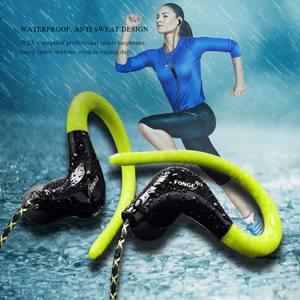 Image 3 - Sports Earphones Waterproof Sport Running Headphones With Mic Ear Hooks Bass Headsets for Mobile iPhone Xiaomi Music Headsets