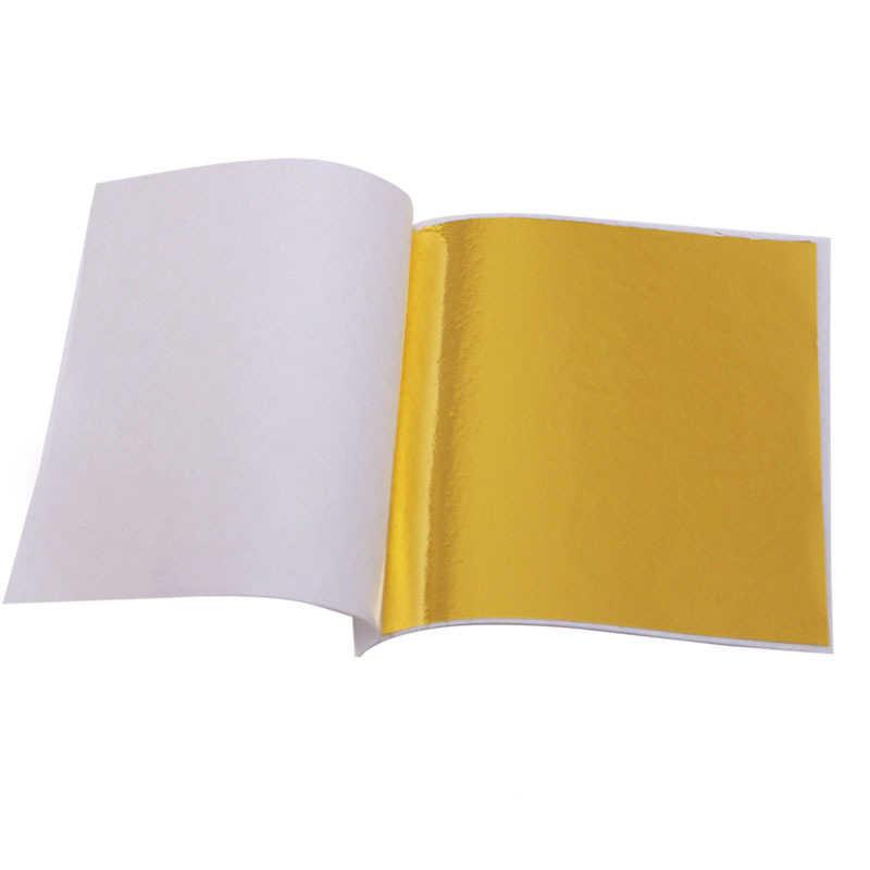 Gold Leaf 1000 sheets Gilding Decoration Foil Sheet Decor Foil Golden Cover Pure Genuine Edible Gold Leaf