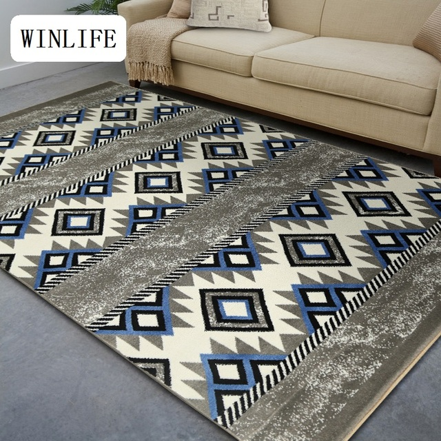 winlife nordic simple carpets fashion floor mats table area rugs geometric style washable area mats bedroom - Washable Area Rugs