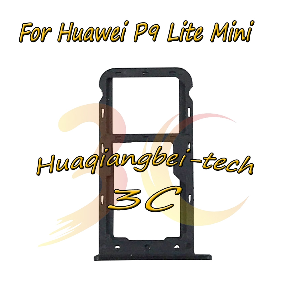 New For Huawei P9 Lite Mini Sim Card Tray Micro SD Card Holder Slot Adapter Parts Sim Card Adapter Tracking Number