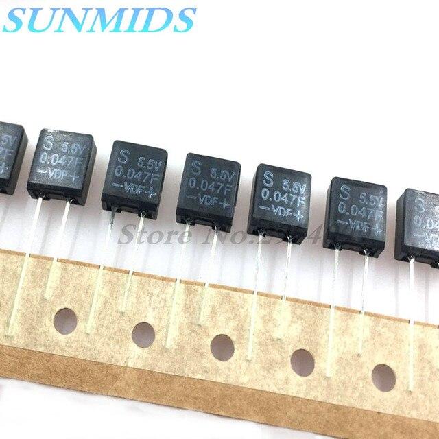 Суперконденсатор фарадного конденсатора, 5 шт., конденсатор фарадного конденсатора 5,5 В, 0,047f, что 40007 тысяч микрофарадов