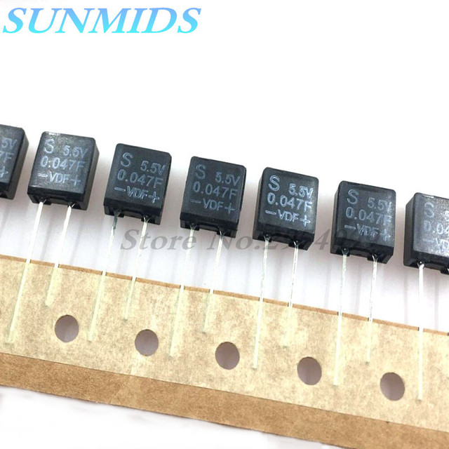 5pcs Super capacitor farad capacitor 5.5V 0.047F that 40,007 one thousand microfarads
