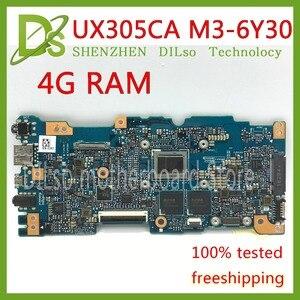KEFU UX305CA Dla ASUS UX305CA UX305C U305C płyty głównej Zintegrowany M3-6Y30 cpu 4g momery na pokładzie płyty głównej rev2.0 pracy Test 100%