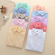 Брендовая женская блузка, новинка, повседневная, длинный рукав, хлопок, Оксфорд, белая рубашка, для женщин, офис, плюс размер, рубашки, блузы, женские блузки