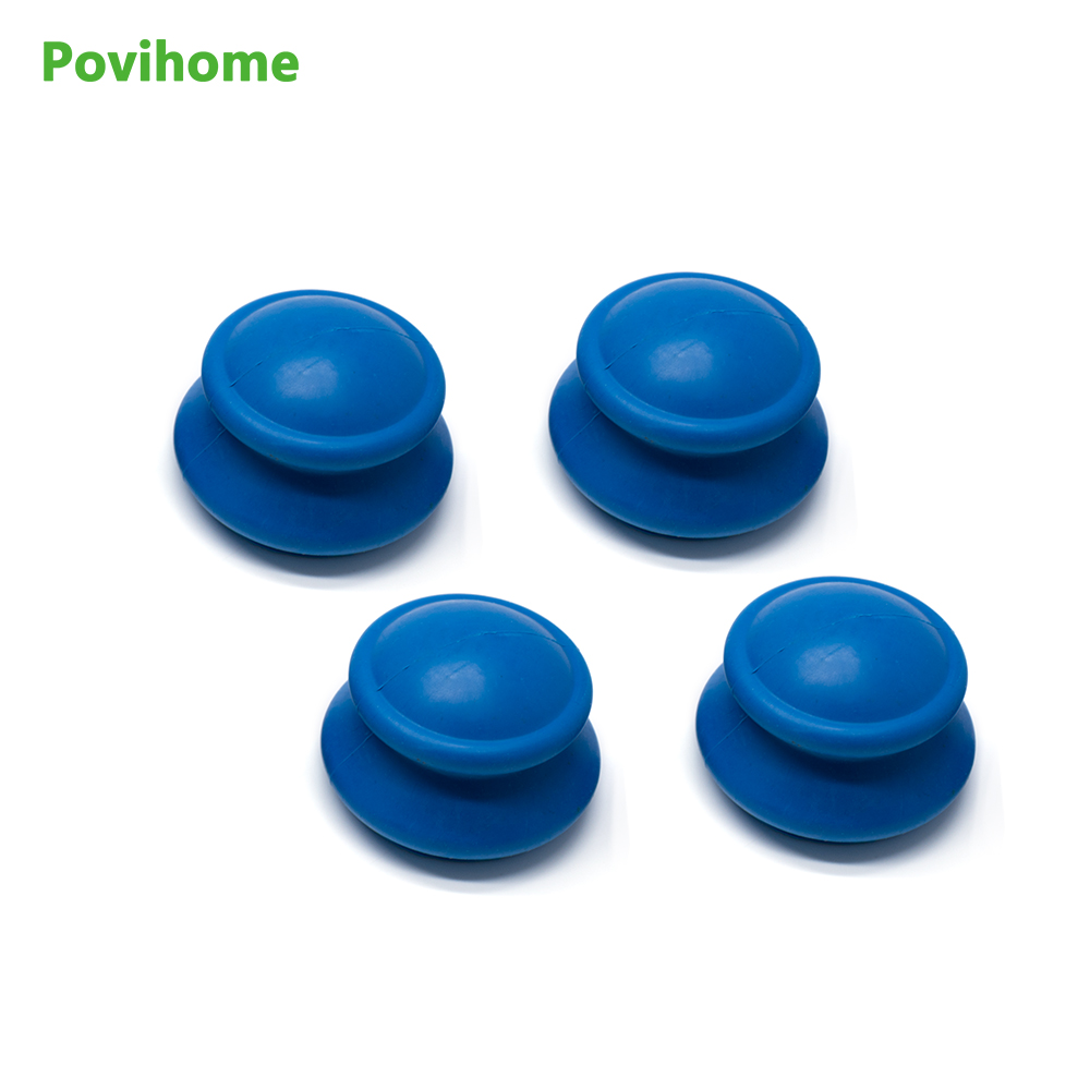 4Pcs Povihome Body Anti-Aging Effect  Suction Silicone Massage Cupping Therapy Skin Health Care Anti-Cellulite Cups Small Size 1pcs silicone health care face eye anti age cupping cups facial lifting massage silicone cupping cups health care