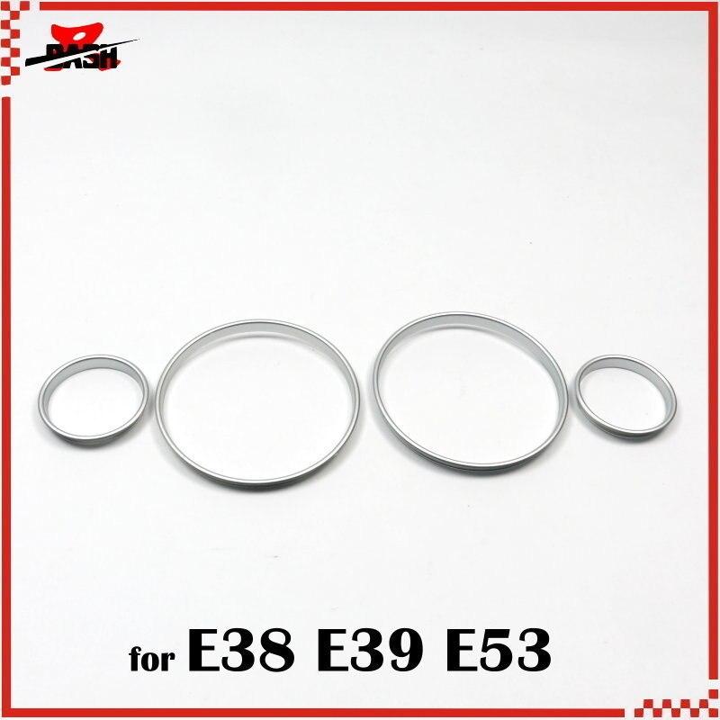 DASH Free Shipping for 20 sets E39 E46 E36 mixed Silver Dashboard ring plastic ABS