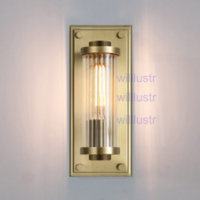 Willlustr vintage copper color wall sconce modern lighting porch ...