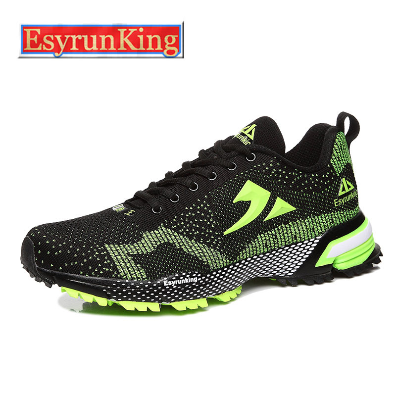 Brand EsyrunKing Running Shoes Men Sneakers Women Sport Shoes Athletic Zapatillas Outdoor Breathable Original For Hombre Mujer peak sport men outdoor bas basketball shoes medium cut breathable comfortable revolve tech sneakers athletic training boots