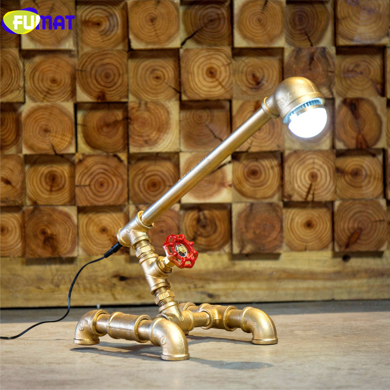FUMAT LED Water Pipe Table Lamps Energy Saving Office Study Desk Lamp Home Lighting Living Room Decorative Table Lamp fumat stained glass table lamp high quality goddess lamp art collect creative home docor table lamp living room light fixtures