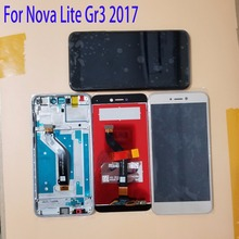 5.2 For Huawei Nova Lite GR3 2017 LCD Display Touch Screen Digitizer Assembly Replacement With Frame +Tools