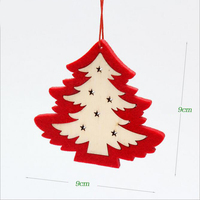 5pcs/lot Christmas Tree Wooden Decorations Tree Star Deer Non-Woven Christmas Decoration Ornaments