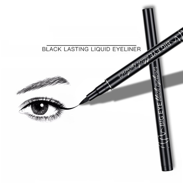 Professional Black Liquid Eyeliner Waterproof Long-lasting Make Up Women Comestic Eye Liner Pencil Makeup Crayon Eyes Marker Pen 3