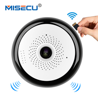 MISECU Mini WIFI Camera 360 Degree VR Panorama Widest Viewing Angle Two Way Audio SD Card