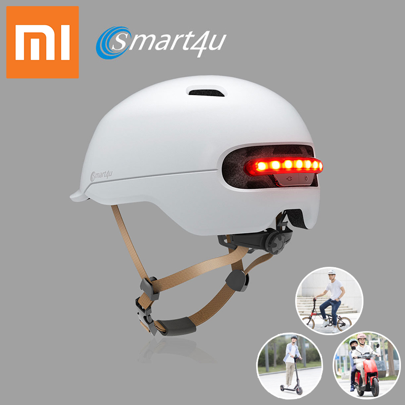 NEW Xiaomi Smart flash Light Cycling Helmet electric Bicycle safety helmet rechargeable helmet Scooter helmet Smart