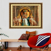 Beauty And The Leopard Needlework Diamond Painting Dimond Cross Stitch Pasted Painting Full Square Drill Home