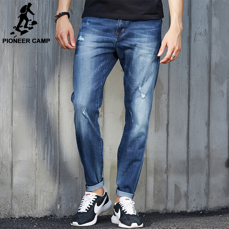 Pioneer Camp 2017 New Hole Jeans Men Fashion Brand Clothing Casual Jeans Male Fit Jean For Men