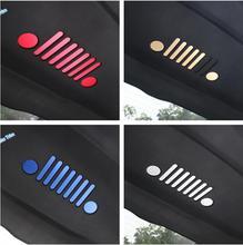 Lapetus стайлинга автомобилей задняя дверь герба Знак наклейки крышка отделка 9 шт/4 выбор, пригодный для Jeep Compass 2017 2018 2019/металл