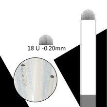 1000 шт., U образные иглы для татуировки, 0,20 мм, 18 пин
