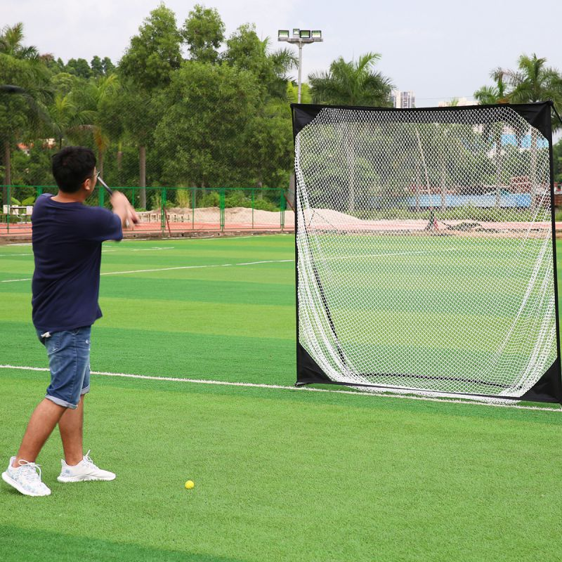 7*7 Golf Practice Net Professional Golf Cage Golf Trainer Golf Training Aids 2017 New Arrivals Outdoor Sports simulation mini golf course display toy set with golf club ball flag