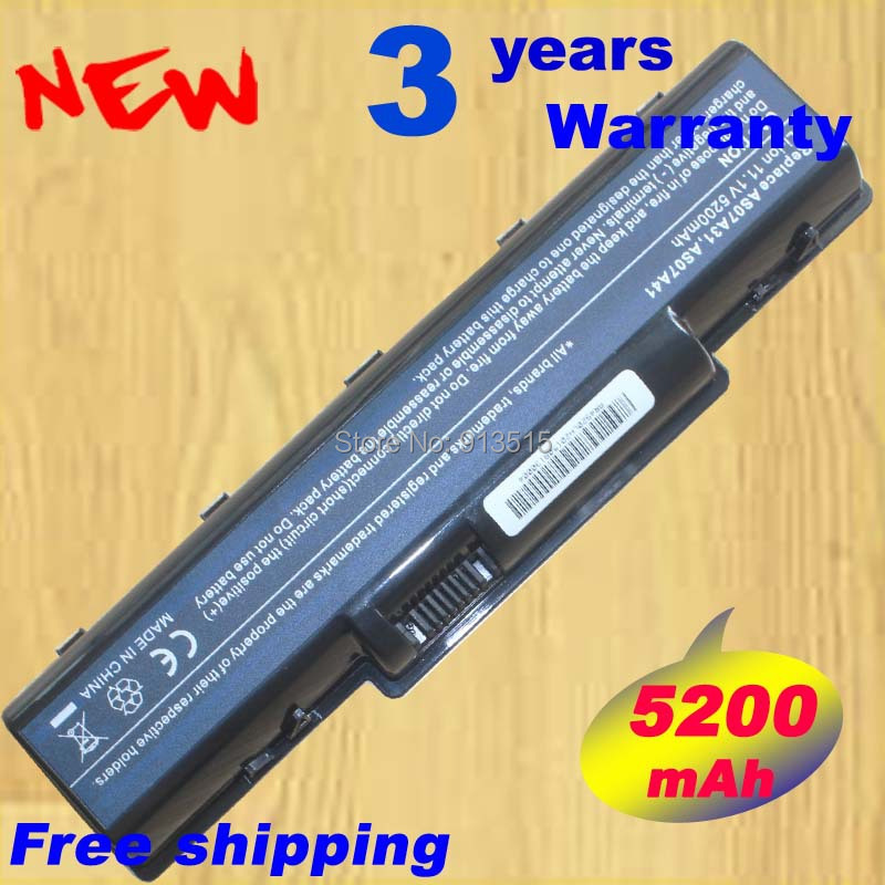 New Replace AS07A75 Laptop Battery For Acer Aspire 5735Z 5737Z 5738 5738DG 5738G 5738Z 5738ZG 5740DG 5740G 7715Z 5740 laptop 10 8v 11 1v 12 cell laptop battery pack for acer aspire 5340 5542 5738z 5740 as5740 as5542 as07a75