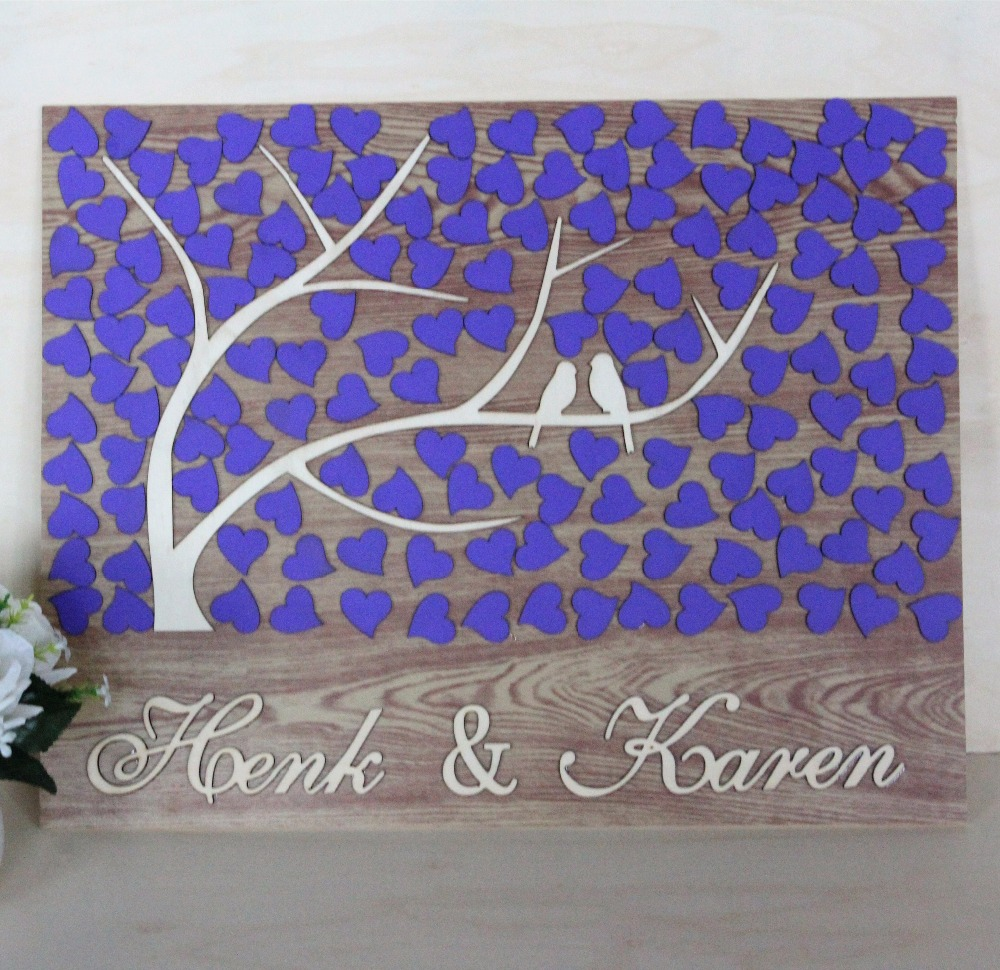 Personalized Wedding Guest Book Frame, Alternative Wooden
