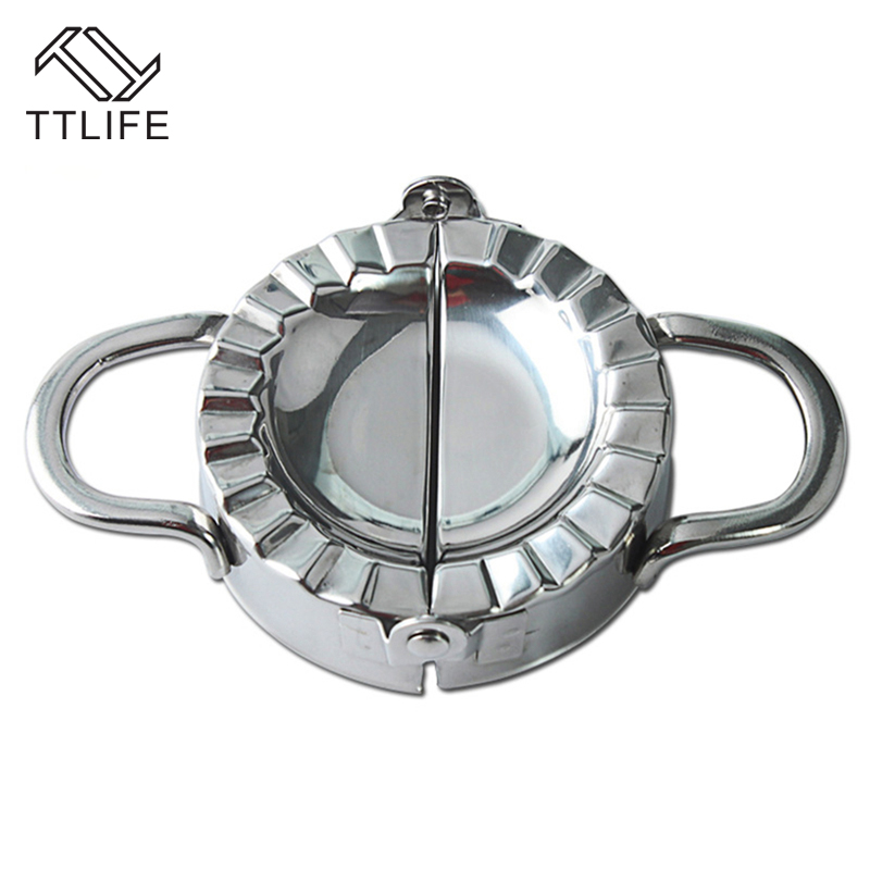 TTLIFE 304 Stainless Steel Dumpling Wrapper Maker Dough Presser Dumpling Mould Cutter Making Machine Cooking Pastry Tools