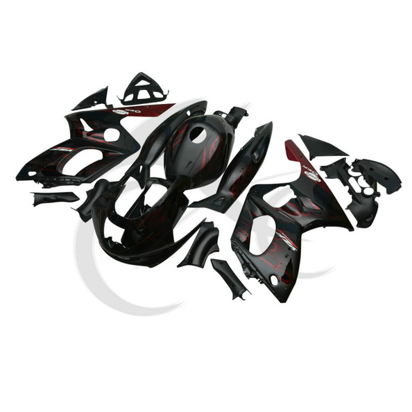 Rouge Cadre Hand made Carrosserie ABS Carénage Set Pour Yamaha YZF600 YZF600R 1997-2007
