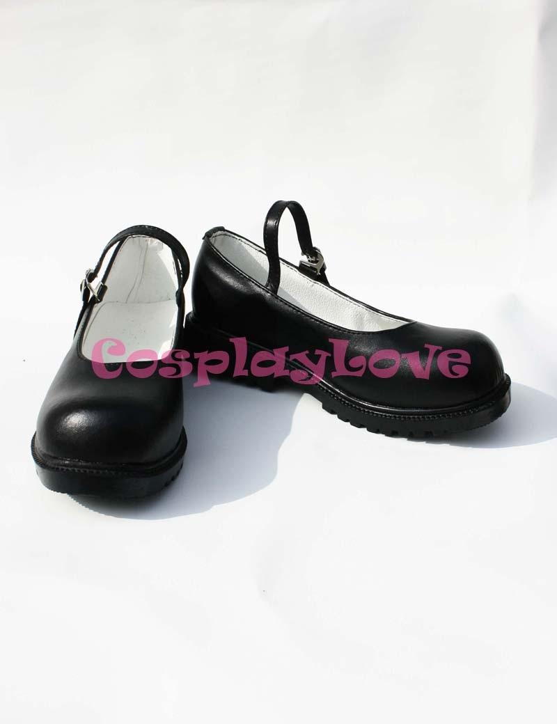 Inu X Boku SS Ririchiyo Shirakiin Cosplay Shoes Boots Black Color Custom-Made For Halloween Christmas Festival CosplayLove