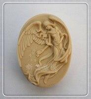 新しい踊る天使石鹸金型ケーキツールシリコーン型