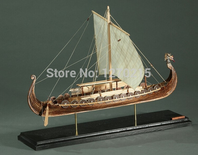 Classic Wooden Scale Sailing Boat Wood Ship 1 50 Viking Ships Assembly Model