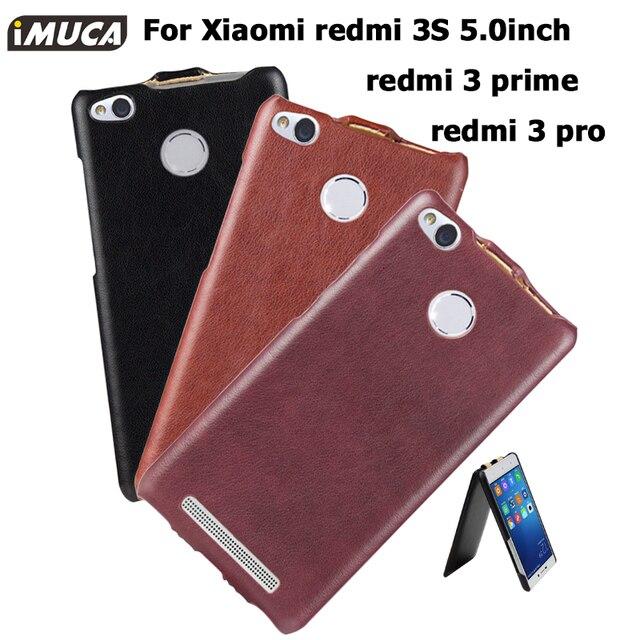 Xiaomi Redmi 3S Case Xiaomi Redmi 3 pro 3 S Cover iMUCA Flip Leather Case for xiaomi redmi 3S 3 Pro 3 S Prime Phone Cases Cover
