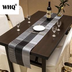 Esteira de mesa de jantar moderna do corredor de mesa 30x180cm do pvc à prova dwaterproof água antiderrapante almofada placemat geométrica casa decoração casamento camino de mesa