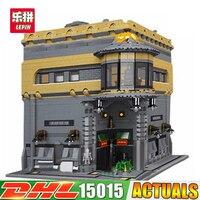 Модульная MOC LP 15015 5003 шт. город улица динозавра музей модель здания Наборы набор блоков кирпич Совместимость LegoINGlys игрушки