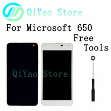 For Nokia Microsoft Lumia 650 New LCD Display Touch Screen Digitizer Assembly Frame White Black
