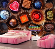 Papel de parede,Sweets Candy Chocolate Food wallpaper,coffee shop dining room living room sofa TV wall kitchen wallpaper mural(China)