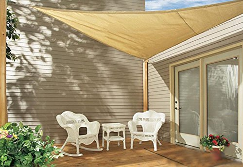Jinguan Patio Sun Shade Sail   Sand Color Available In Multiple Sizes 13u0027 X  13