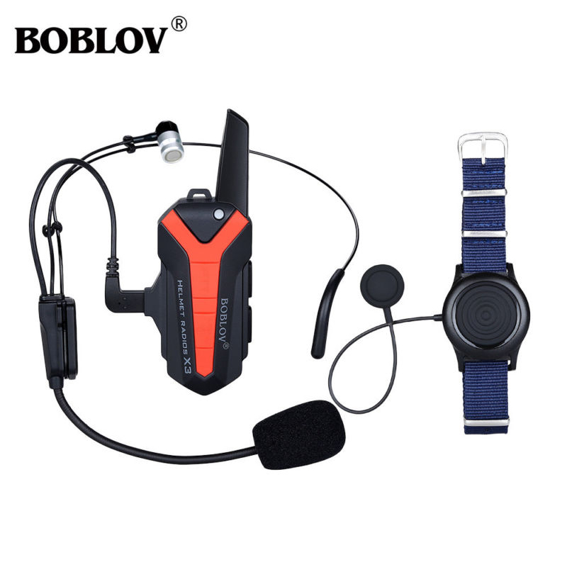 Boblov X3 Plus Helmet Bluetooth intercom Walkie Talkie Intercom two 2 Way Radio for Skiing Wireless Version xiaomi mjdjj01fy bluetooth 4 0 radio two way walkie talkie white