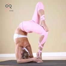 Sexy Pink Yoga pants Ballet Spirit Bandage infinity Turnout Leggings For Women Lavender For Dance  P089 voter turnout