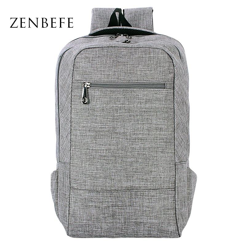 ZENBEFE Laptop Backpacks Large Capacity Backpack For College Designed Brand Backpack Unisex School Bags For 15