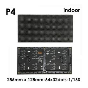 Image 2 - Free shipping RGB led matrix led module p4 , hub75  smd2020 smd2121 indoor ph4 led screen module 32x64