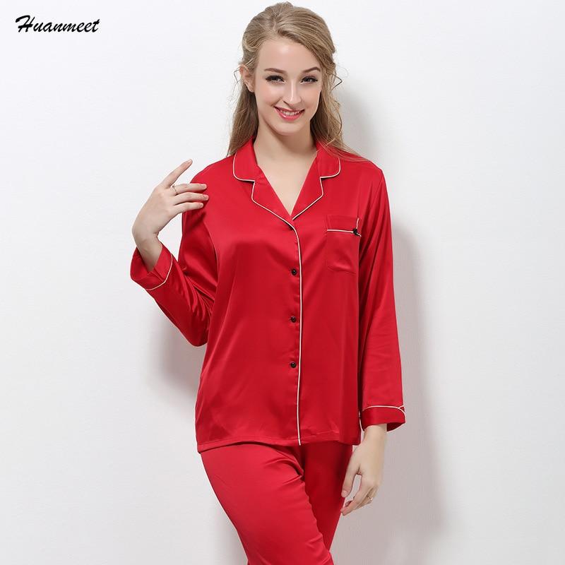 Luxury Brand Sexy Silk Pajamas Women Spring Autumn Winter Woman Pyjamas Lounge Pajama Sets Satin Shorts pijama feminino inverno