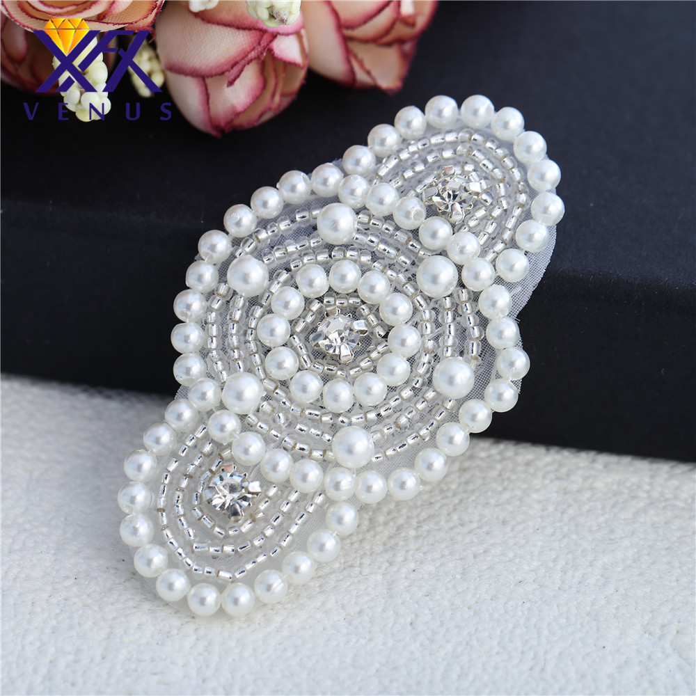 Xinfangxiu 30 Pieces Hand Beaded Sewing Pearls
