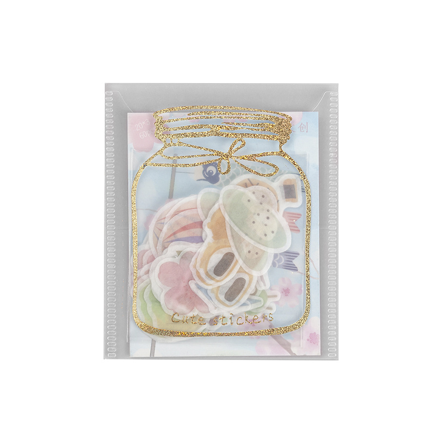 Купить с кэшбэком Silver Bronzing Washi Paper Sticker Package Journal Sketchbook Planner DIY Stickers