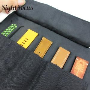 Image 3 - Organizador de pulseira para relógio, bolsa portátil para armazenamento de pulseira garmin, samsung, apple suunto, quartzo e alça mecânica, estojo para viagem