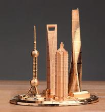 famous architectural complex tower tourism memorial Oriental pearl global financial center jinmao model decoration