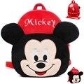 Barato al por mayor de Los Niños Mochilas de Marca Disney Juguete Para Niños Mickey Rojo Anime Brinquedos Kawaii School Bolsas Mochila Dj060